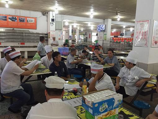 后勤处举办高校烹饪技术比赛选拔赛