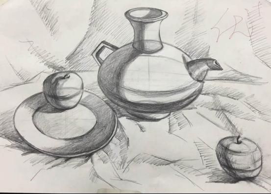 陶瓷5171班素描课堂作品